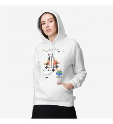 Women's sweatshirt BEETLE, white, with a pattern No. 1