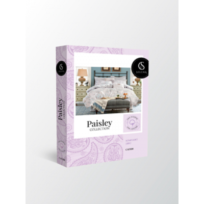 "Bedding Set ""PAISLEY COLLECTION"" by SELENA Euro Pink Sherbet"