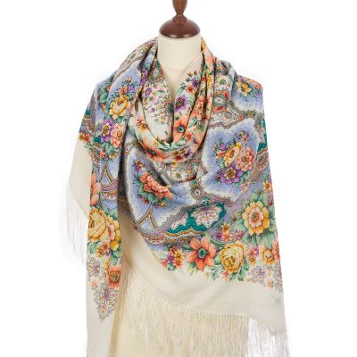 """Scarf """"Snowflakes and Flowers"""""""