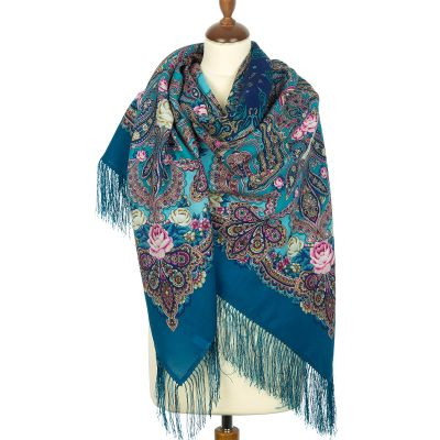 """Shawl """"Evening in the estate"""""""