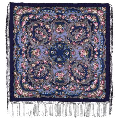 "Shawl ""Flowers in the snow"""
